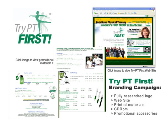 Try PT First Campaign - full branding campaign for the profession of physical therapy